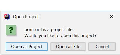 open java solution intellij idea pom xml